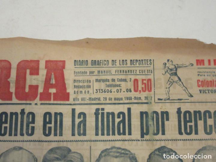 Coleccionismo deportivo: Marca. Diario Gráfico de los Deportes. Número 20#7. 29 de mayo de 1949. - Foto 2 - 118587591