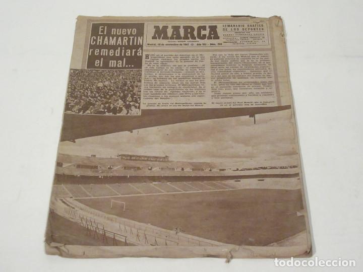 MARCA. SEMANARIO GRÁFICO DE LOS DEPORTES. NÚMERO 259. 18 DE NOVIEMBRE DE 1947. (Coleccionismo Deportivo - Revistas y Periódicos - Marca)