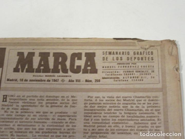 Coleccionismo deportivo: Marca. Semanario Gráfico de los Deportes. Número 259. 18 de noviembre de 1947. - Foto 2 - 118587887