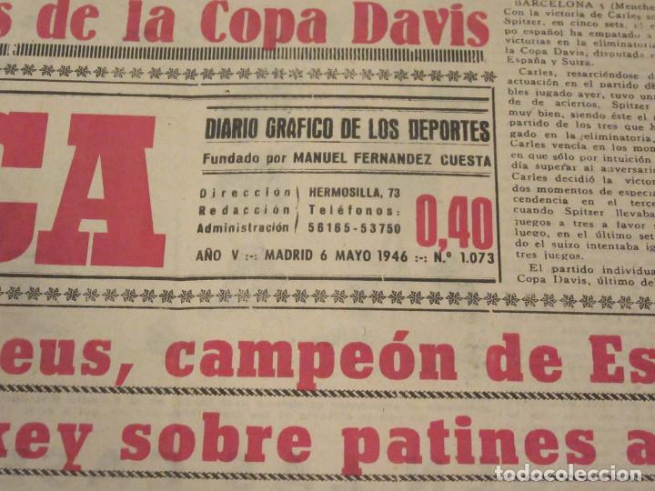 Coleccionismo deportivo: Marca. Diario Gráfico de los Deportes. Número 1073. 6 de mayo de 1946. - Foto 2 - 118588087