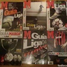 Coleccionismo deportivo: 5 GUIAS DE LA LIGA MARCA Y UNA GUIA DE FICHAJES DE LA 2004 A LA 2008. Lote 118595656