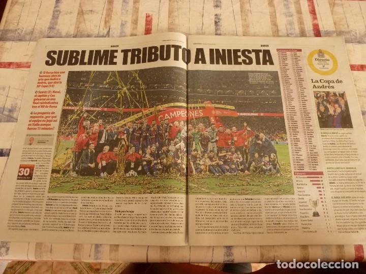 Coleccionismo deportivo: MUNDO DEPORTIVO(22-4-18)!!!! BARÇA 5 SEVILLA 0 !!!!CAMPEONES COPA REY Y GOLEADA !!!MESSI E INIESTA. - Foto 2 - 209899302