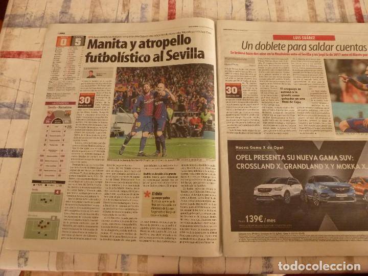 Coleccionismo deportivo: MUNDO DEPORTIVO(22-4-18)!!!! BARÇA 5 SEVILLA 0 !!!!CAMPEONES COPA REY Y GOLEADA !!!MESSI E INIESTA. - Foto 3 - 209899302