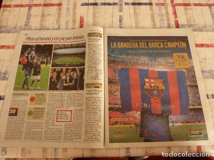 Coleccionismo deportivo: MUNDO DEPORTIVO(22-4-18)!!!! BARÇA 5 SEVILLA 0 !!!!CAMPEONES COPA REY Y GOLEADA !!!MESSI E INIESTA. - Foto 4 - 209899302