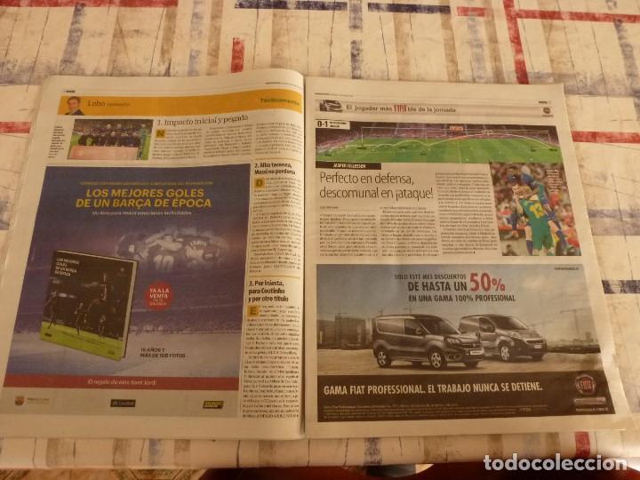Coleccionismo deportivo: MUNDO DEPORTIVO(22-4-18)!!!! BARÇA 5 SEVILLA 0 !!!!CAMPEONES COPA REY Y GOLEADA !!!MESSI E INIESTA. - Foto 5 - 209899302