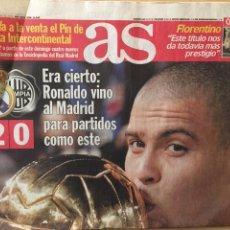 Coleccionismo deportivo: AS.4/12/2002.FINAL INTERCONTINENTAL. R.MADRID,2- OLIMPIA,0. Lote 118781434