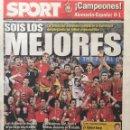Coleccionismo deportivo: SPORT.30/6/2008. FINAL EURO 2008. ALEMANIA,0-ESPAÑA,1. Lote 118784236