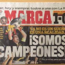 Coleccionismo deportivo: MARCA.30/6/2008. FINAL EURO 2008. ALEMANIA,0- ESPAÑA,1. Lote 118785062