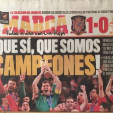 Coleccionismo deportivo: MARCA.12/7/2010. FINAL MUNDIAL. ESPAÑA,1-HOLANDA,0. Lote 118802368