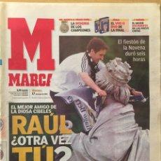 Coleccionismo deportivo: MARCA.17/5/2002. FINAL CHAMPIONS. BAYER LEVERKUSEN - REAL MADRID.. Lote 118802908