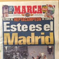 Coleccionismo deportivo: MARCA.22/5/5/1998. FINAL COPA EUROPA. JUVENTUS-REAL MADRID. Lote 118803544