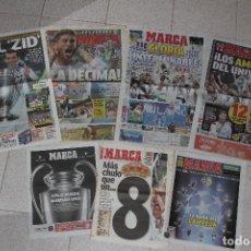 Coleccionismo deportivo: DIARIO MARCA. REAL MADRID CAMPEÓN CHAMPIONS LEAGUE (2000, 2002, 2014, 2016, 2017). Lote 97702891