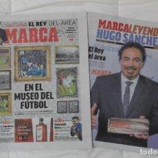 Coleccionismo deportivo: DIARIO MARCA 5 ABRIL 2018. EN EL MUSEO DEL FÚTBOL. SUPLEMENTO HUGO SÁNCHEZ MARCA LEYENDA. Lote 118914855