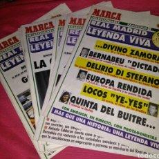 Coleccionismo deportivo: COLECCIÓN DE 15 FASCÍCULOS COLECCIONABLES DE MARCA DEL REAL MADRID ESTÁN EN MAGNÍFICO ESTADO. Lote 118948054