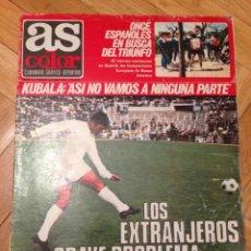 Collectionnisme sportif: REVISTA PERIODICO AS COLOR Nº 3 FINAL COPA EUROPA AJAX PANATHINAIKOS 1970 1971. Lote 118995347
