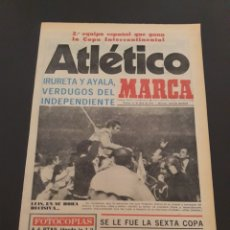 Collectionnisme sportif: MARCA. 11/04/1975. FINAL INTERCONTINENTAL. ATLÉTICO MADRID,2 - INDEPENDIENTE,0. AT.MADRID CAMPEÓN.. Lote 119004460