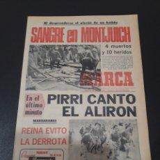 Coleccionismo deportivo: MARCA. 28/04/1975. REAL MADRID CAMPEÓN. REAL SOCIEDAD,1 - REAL MADRID,1.. Lote 119009456