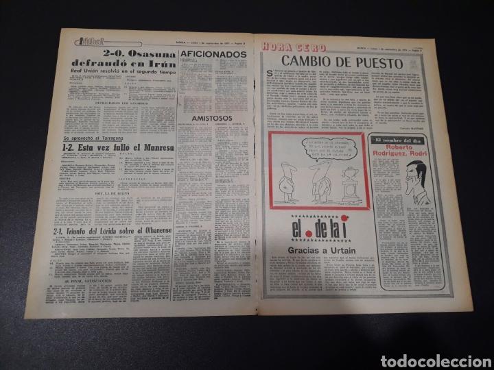 Coleccionismo deportivo: MARCA. 1/09/1975. FINAL CARRANZA. PALMEIRAS,3 - R.MADRID,1. ZARAGOZA,3 - DINAMO KIEV,0. - Foto 2 - 119047214