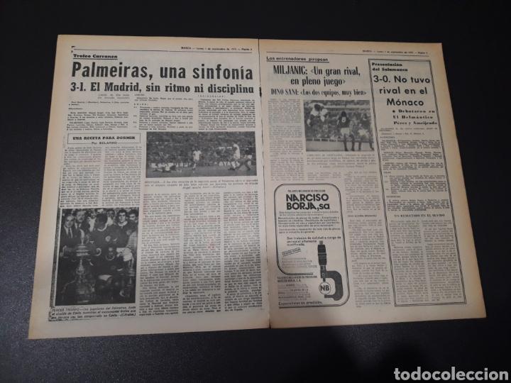 Coleccionismo deportivo: MARCA. 1/09/1975. FINAL CARRANZA. PALMEIRAS,3 - R.MADRID,1. ZARAGOZA,3 - DINAMO KIEV,0. - Foto 3 - 119047214