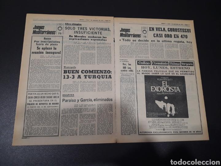 Coleccionismo deportivo: MARCA. 1/09/1975. FINAL CARRANZA. PALMEIRAS,3 - R.MADRID,1. ZARAGOZA,3 - DINAMO KIEV,0. - Foto 8 - 119047214