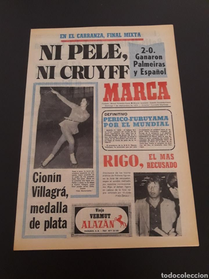 MARCA. 1/09/1974. CARRANZA. BODAS ORO ALAVÉS. BILBAO,2 - REAL SOCIEDAD,1. (Coleccionismo Deportivo - Revistas y Periódicos - Marca)