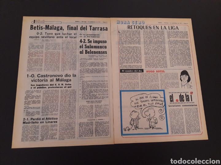 Coleccionismo deportivo: MARCA. 1/09/1974. CARRANZA. BODAS ORO ALAVÉS. BILBAO,2 - REAL SOCIEDAD,1. - Foto 2 - 119097080