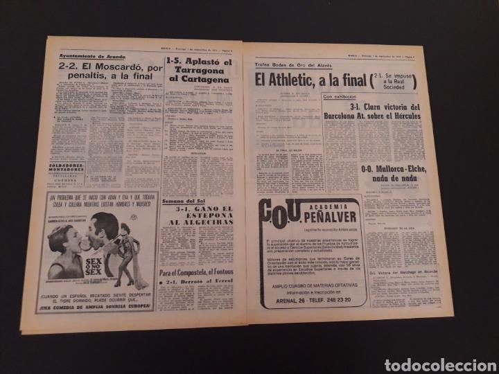Coleccionismo deportivo: MARCA. 1/09/1974. CARRANZA. BODAS ORO ALAVÉS. BILBAO,2 - REAL SOCIEDAD,1. - Foto 4 - 119097080