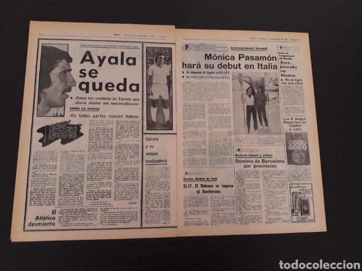Coleccionismo deportivo: MARCA. 1/09/1974. CARRANZA. BODAS ORO ALAVÉS. BILBAO,2 - REAL SOCIEDAD,1. - Foto 5 - 119097080