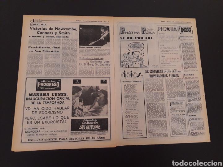 Coleccionismo deportivo: MARCA. 1/09/1974. CARRANZA. BODAS ORO ALAVÉS. BILBAO,2 - REAL SOCIEDAD,1. - Foto 6 - 119097080