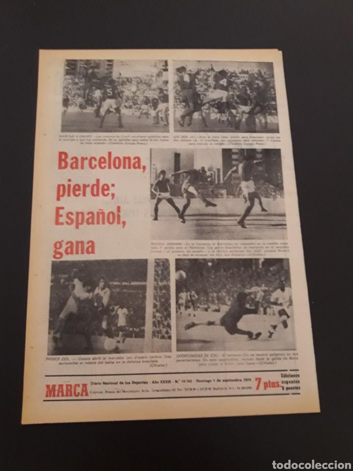 Coleccionismo deportivo: MARCA. 1/09/1974. CARRANZA. BODAS ORO ALAVÉS. BILBAO,2 - REAL SOCIEDAD,1. - Foto 7 - 119097080