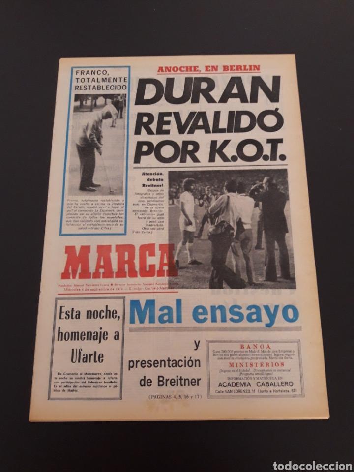 MARCA. 4/09/1974. REAL MADRID,3 - DINAMO ZAGREB,4. (Coleccionismo Deportivo - Revistas y Periódicos - Marca)