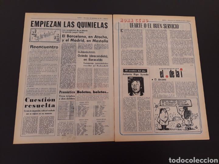 Coleccionismo deportivo: MARCA. 4/09/1974. REAL MADRID,3 - DINAMO ZAGREB,4. - Foto 2 - 119097808