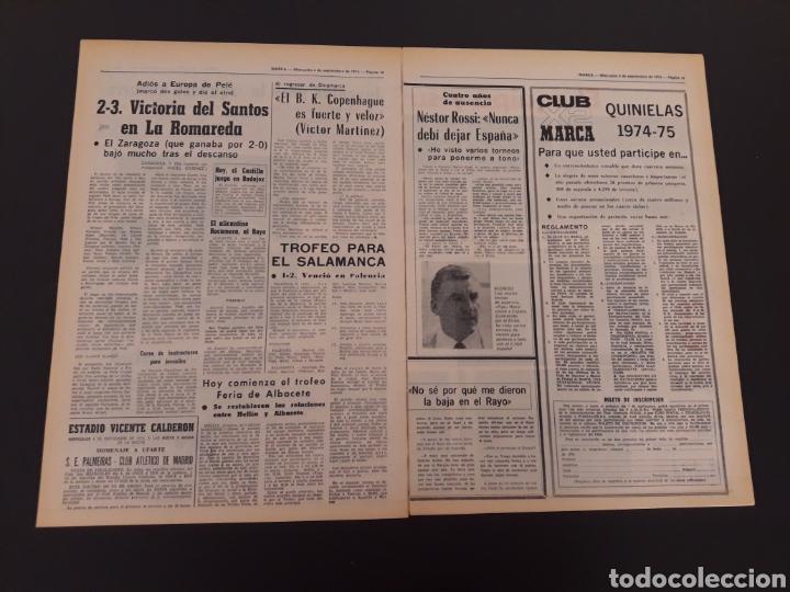 Coleccionismo deportivo: MARCA. 4/09/1974. REAL MADRID,3 - DINAMO ZAGREB,4. - Foto 5 - 119097808