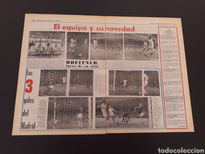 Coleccionismo deportivo: MARCA. 4/09/1974. REAL MADRID,3 - DINAMO ZAGREB,4. - Foto 6 - 119097808