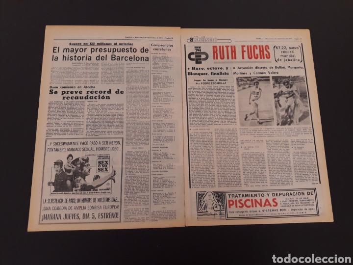 Coleccionismo deportivo: MARCA. 4/09/1974. REAL MADRID,3 - DINAMO ZAGREB,4. - Foto 7 - 119097808
