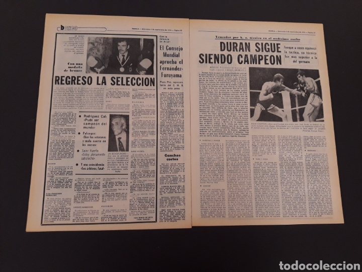 Coleccionismo deportivo: MARCA. 4/09/1974. REAL MADRID,3 - DINAMO ZAGREB,4. - Foto 9 - 119097808
