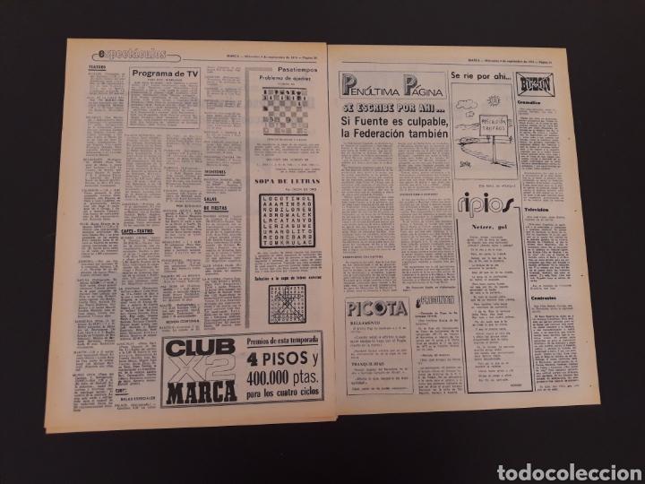 Coleccionismo deportivo: MARCA. 4/09/1974. REAL MADRID,3 - DINAMO ZAGREB,4. - Foto 12 - 119097808
