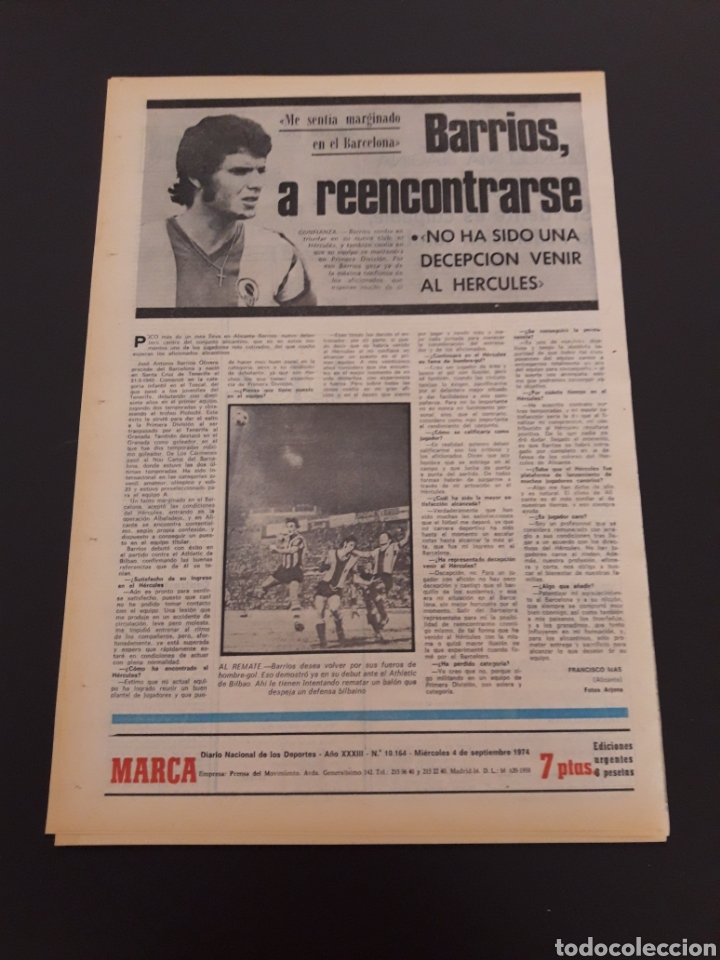 Coleccionismo deportivo: MARCA. 4/09/1974. REAL MADRID,3 - DINAMO ZAGREB,4. - Foto 13 - 119097808