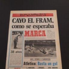 Coleccionismo deportivo: MARCA. 2/10/1974. RECOPA. R.MADRID,6 - FRAM,0. UEFA, HOY ATLÉTICO - BOLDKLUB.. Lote 119099098