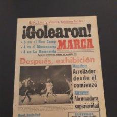 Coleccionismo deportivo: MARCA. 3/10/1974. UEFA. ATLÉTICO,4 - BOLDKLUB,0. COPA EUROPA. BARCELONA,5 - VOEST,0. ZARAGOZA,4 - VI. Lote 119099292