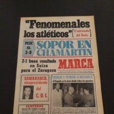 Coleccionismo deportivo: MARCA. 24/10/1974. UEFA. DERBY COUNTY,2 - AT.MADRID,2. GRASSHOPPER,2 - ZARAGOZA,1. RECOPA. R.MADRID,. Lote 119099946