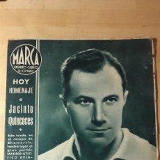 Coleccionismo deportivo: MARCA SUPLEMENTO GRAFICO DE LOS MARTES. 2.8 DICIEMBRE 1942. MADRID ATLETICO AVIACION CHAMARTIN. Lote 119142691
