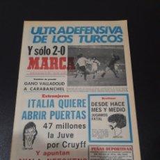 Coleccionismo deportivo: MARCA. 22/01/1976. ESPAÑA,2 - TURQUIA,0. EUROCOPA.. Lote 119205294