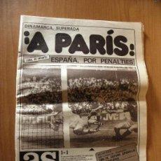 Coleccionismo deportivo: DIARIO AS ¡¡A PARIS!! ESPAÑA SE CLASIFICA PARA LA FINAL DE LA EUROCOPA 84. Lote 116281151