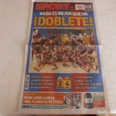Collezionismo sportivo: SPORT(30-4-18)!!F.C.BARCELONA CAMPEÓN LIGA 17-18 MESSI BARÇA DOBLETE ADIÓS INIESTA. Lote 119498267