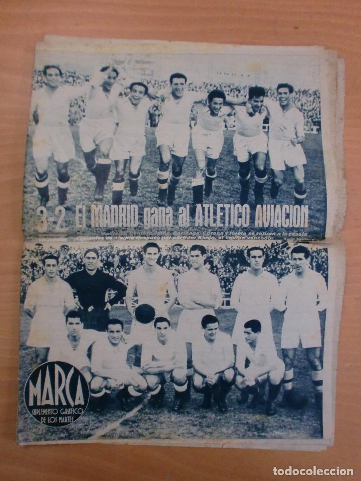 19/10/1943 Nº 47 MADRID 3 AT. AVIACION 2 VALENCIA 8 SEVILLA 0 SABADELL 1 CASTELLON 0 LUCHA LIBRE (Coleccionismo Deportivo - Revistas y Periódicos - Marca)