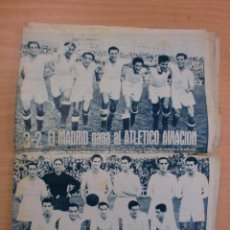 Coleccionismo deportivo: 19/10/1943 Nº 47 MADRID 3 AT. AVIACION 2 VALENCIA 8 SEVILLA 0 SABADELL 1 CASTELLON 0 LUCHA LIBRE. Lote 119546523
