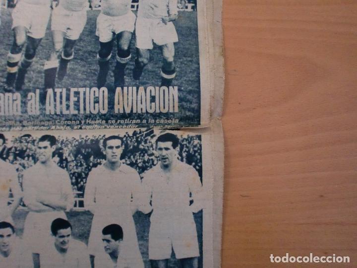 Coleccionismo deportivo: 19/10/1943 Nº 47 MADRID 3 AT. AVIACION 2 VALENCIA 8 SEVILLA 0 SABADELL 1 CASTELLON 0 LUCHA LIBRE - Foto 2 - 119546523
