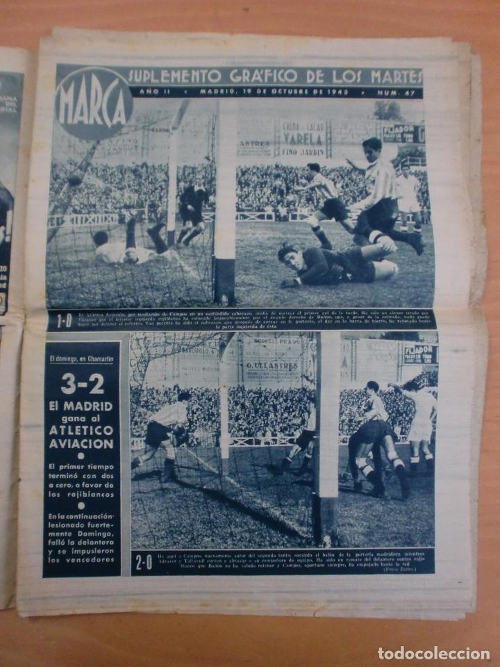 Coleccionismo deportivo: 19/10/1943 Nº 47 MADRID 3 AT. AVIACION 2 VALENCIA 8 SEVILLA 0 SABADELL 1 CASTELLON 0 LUCHA LIBRE - Foto 3 - 119546523