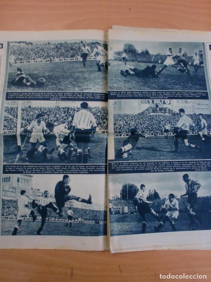 Coleccionismo deportivo: 19/10/1943 Nº 47 MADRID 3 AT. AVIACION 2 VALENCIA 8 SEVILLA 0 SABADELL 1 CASTELLON 0 LUCHA LIBRE - Foto 4 - 119546523